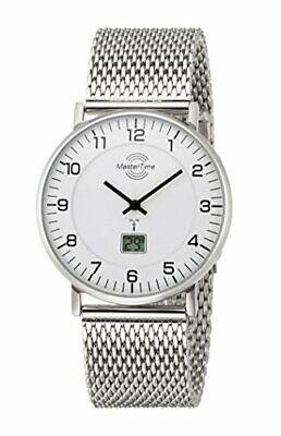 Herrenuhr Master Time Funk Quarzwerk Analog-Digital Edelstahl Armbanduhr silber