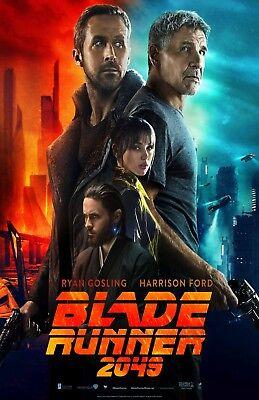 "Blade Runner 2049 movie poster (b) - 11"" x 17"" - Ryan Gosling, Harrison Ford"