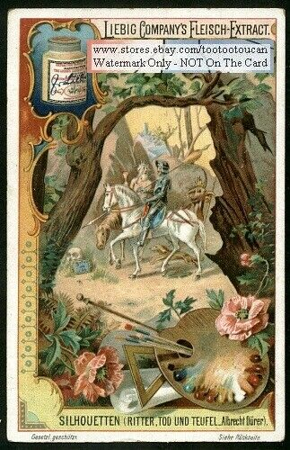 Knight Death And Devil By Albrecht Durer c1900 Trade Ad Card