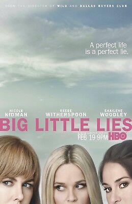 Big Little Lies poster  - 11 x 17 inches - Nicole Kidman, Reese