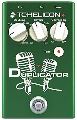 Tc Helicon Duplicator Electronics Vocal Effects Stompbox Pedal Free 2Day New