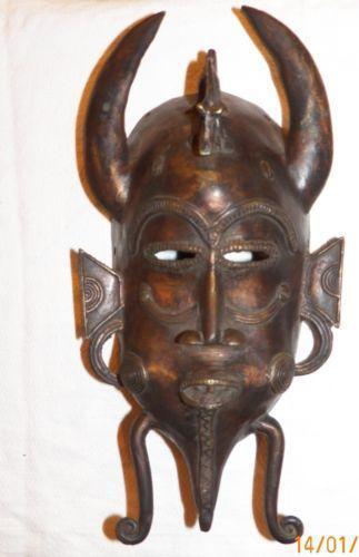 African Bronze Mask Ebay