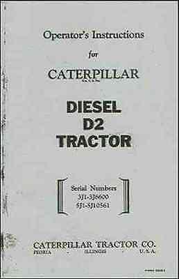 CATERPILLAR Diesel D-2 Operator's Instructions