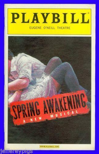 Beautiful Spring Awakening Obc Cast Signed Poster Lea Michele Jonathan Groff Last Style Entertainment Memorabilia