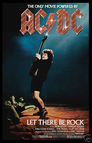 AC/DC  * Let There Be Rock * Movie Poster 1980  Large Format 24x36