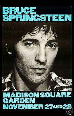 1980's Classic Rock: Bruce Springsteen Madison Square Garden Poster 1980 12x18