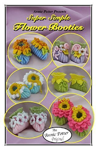 Crochet Super Simple Flower Booties baby bootie pattern