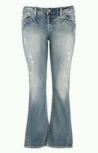 9e32f27b6a8f7 Silver Jeans Plus Size 22