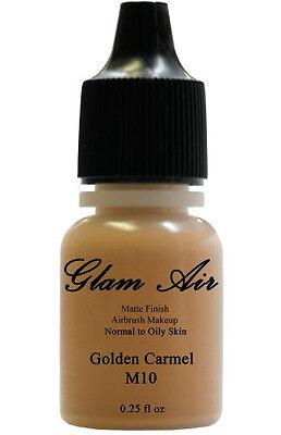 Glam Air Airbrush Makeup Foundation Water Based Matte M10 Golden Caramel (Ideal Face