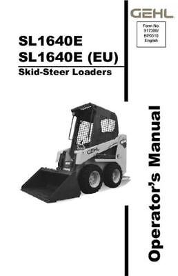 New Gehl Sl1640e Skid Steer Loader Owners Operators Manual 917388 Bound Book