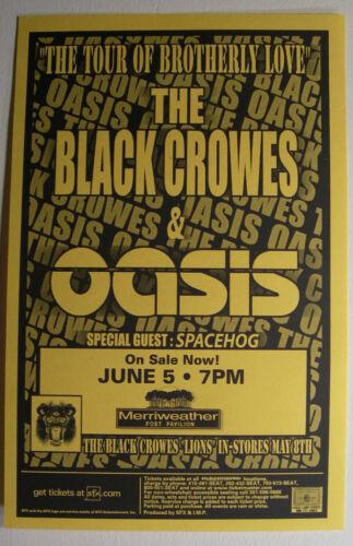 BLACK CROWES OASIS CONCERT FLYER HANDBILL 2001