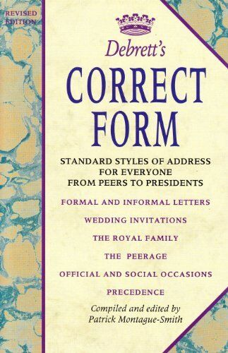 Debrett's Correct Form,Patrick Montague-Smith