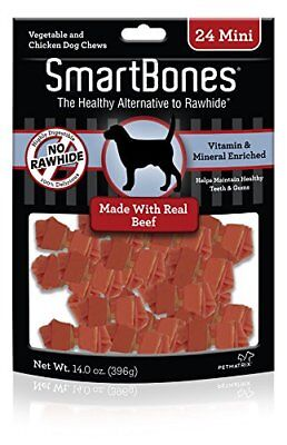 SmartBones Beef Dog Chew Mini 24 pieces/pk