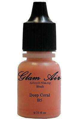 Glam Air Airbrush Blush Makeup Deep Coral for All Skin Types 0.25 fl oz. Face