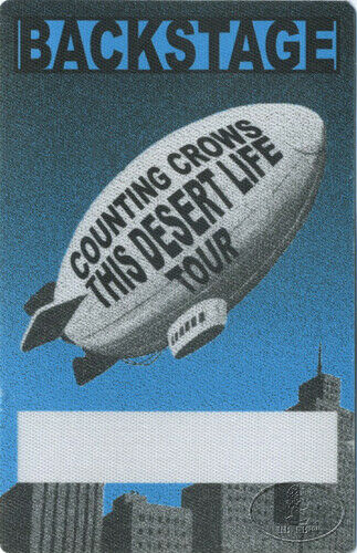 COUNTING CROWS 1999 DESERT LIFE Backstage Pass AA blue