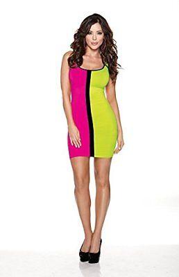 Halloween Wholesalers Color Block Dress - Green & - Halloween Wholesalers