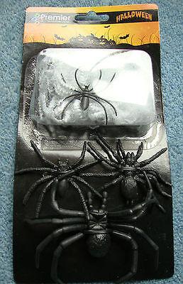 CHEAP Halloween Spiders Web & 4 Spooky Creatures Super Value Favour Pack Bargain