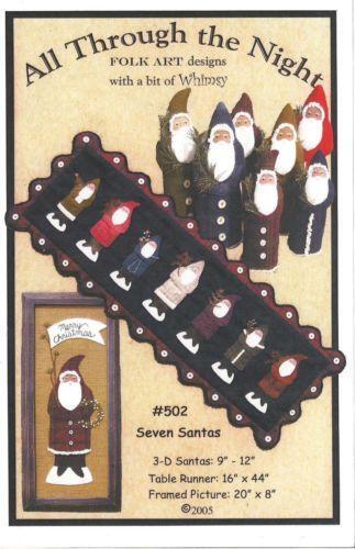 Applique Santa Patterns Ebay