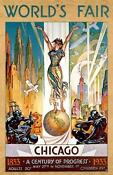 1933 Chicago Worlds Fair Poster