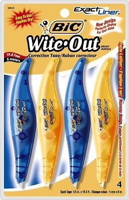 Bic Wite-out Exact Liner Correction Tape White 4 Tapes 50815