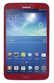 """New Samsung Galaxy Tab 3 7"""" Tablet 1GB 8GB Garnet Red Was: £179.99"""