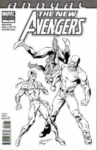 Marvel Annual The New Avengers 1 Black White Sketch Mark Bagley Variant NM - $24.99