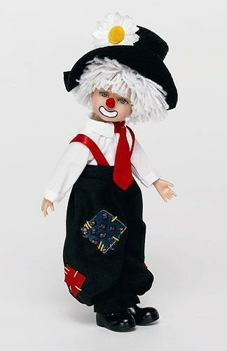 Key To My Heart Richard Collectible Hobo Clown Doll 8""