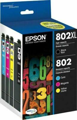 Epson T802XL-BCS DURABrite Ultra Black High Capacity & Color Combo Pack 11/2023
