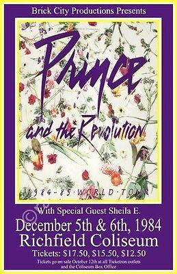 Prince 1984 Cleveland Concert Poster