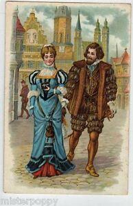 Medieval-Castle-Girl-in-Love-Elegant-Man-Lovers-Innamorati-PC-Circa-1910