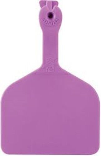 Z-TAG FEEDLOT ONE PIECE Cattle/Cow Blank Ear Tags PURPLE 50 Count