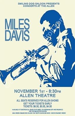 Miles Davis 1974 Cleveland Concert Poster
