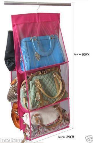 Closet purse organizer ebay - Purse organizer for closet ...