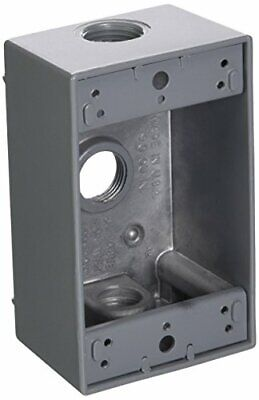 Greenfield B23ps Series Weatherproof Electrical Outlet Box Gray