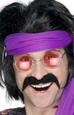 70er Jahre Schnurrbart schwarz NEU - Karneval Fasching Bart Verkleidung ()
