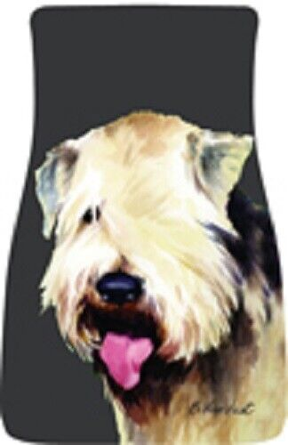 Wheaten Terrier Car Floor Mats Pair (BVV) 21056