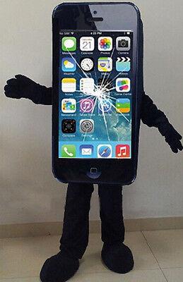 Black Mobile Advertising Cell Phone Mascot Adult Costume Dress Handmande - Cell Phone Costume