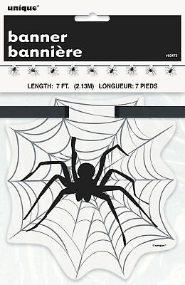 CHEAP Halloween Black Spider & spider Web Flag Banner Party Decoration Bunting