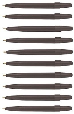 Mini Ball Point Pens Black Compact Small - Pack 10