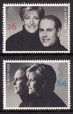 GB MNH STAMP SET 1999 Edward & Sophie Royal Wedding SG 2096-2097 10% OFF ANY 5+