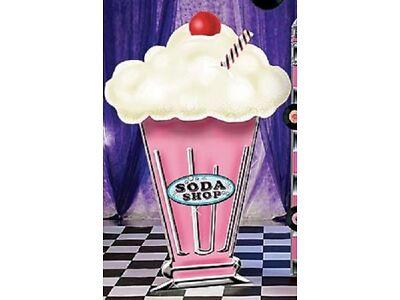 MILKSHAKE STANDEE  * ice cream bash decoration * photo opp. * ice cream shop