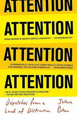 ATTENTION by Joshua Cohen #19067