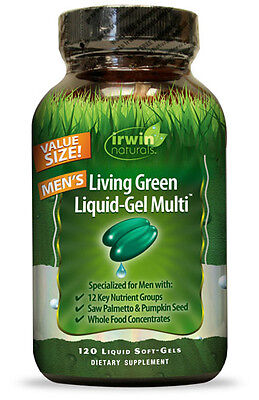 Living Multivitamin - Irwin Naturals Living Green Liquid Gel Multi For Men Multivitamin 120 Softgels