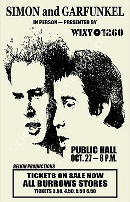 Simon And Garfunkel 1968 Cleveland Concert Poster