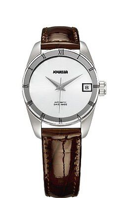 (Jowissa Women's J4.062.M Monte Carlo Swiss Automatic Brown Patent Leather Watch)
