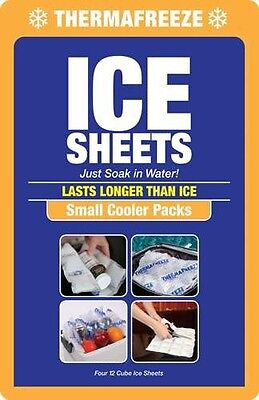 ThermaFreeze~Small Cooler Pack~4 Reusable 4x3 Ice Sheets+1 F