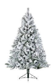 2 x Snowy Toronto Pine Christmas Trees