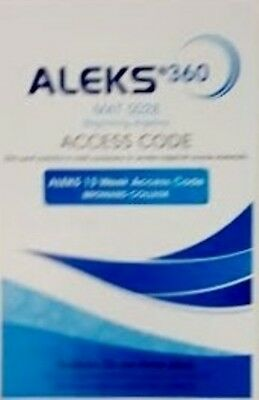 Aleks 360 For Math Student Access Code Blue 13 Weeks Mat0028 Broward College