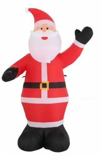 9' Santa Christmas Inflatable - Airblown Holiday Giant Claus