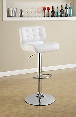 Set Of 2 Bar Stools With Upholstered Seat And Back (White)
